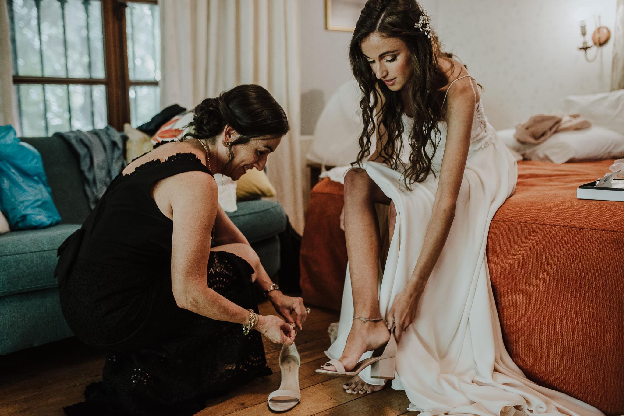 preparativos-novia-casa de campo fuller-vestido de novia