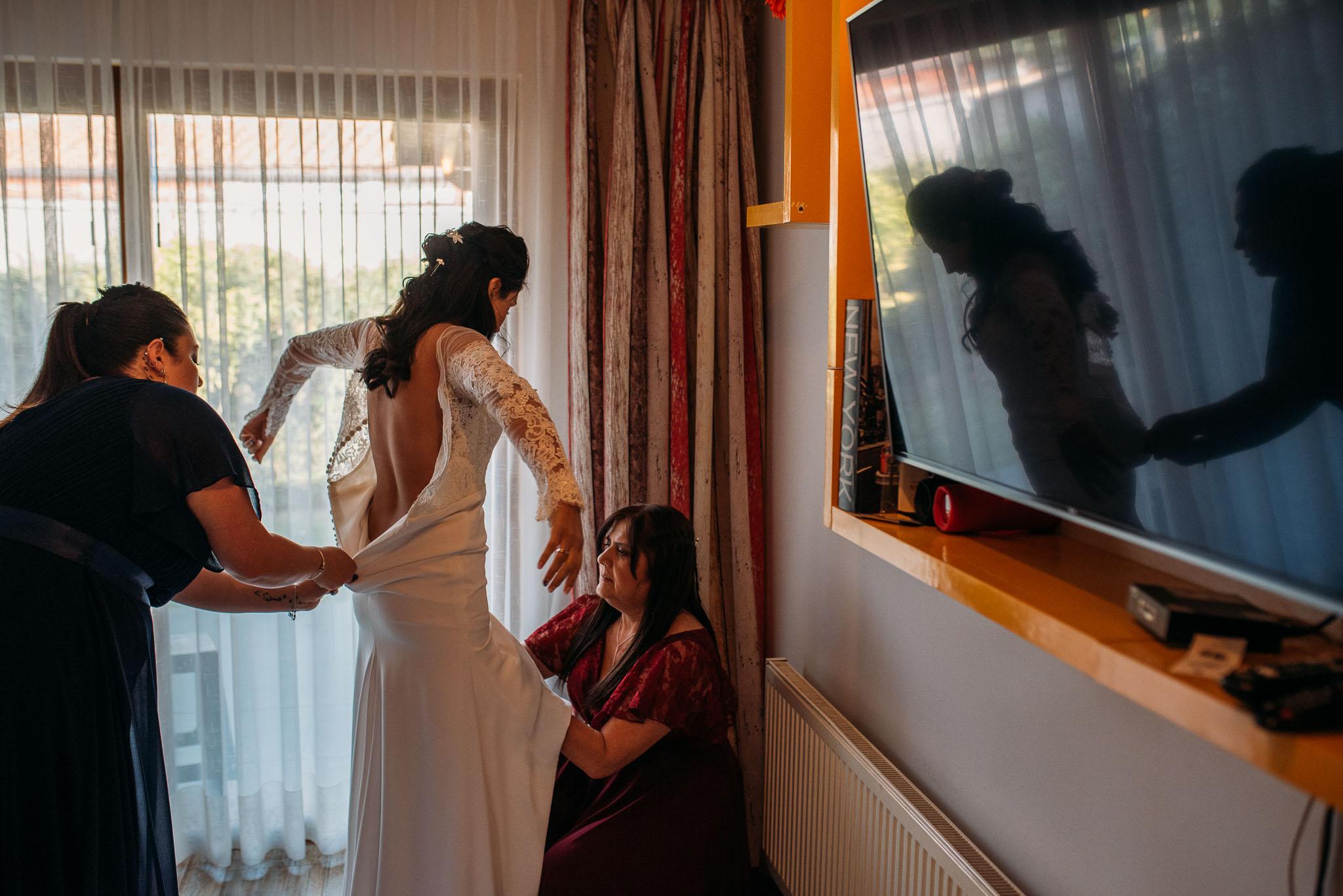 preparativos novia-fotografo matrimonio santiago-botanico